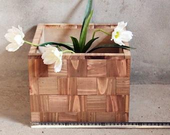 Rustic Wooden Box Vase  Gift Box, Flower Planter, Flower Pot, Organizer, Wedding Party Centerpiece, Birthday, Christmas