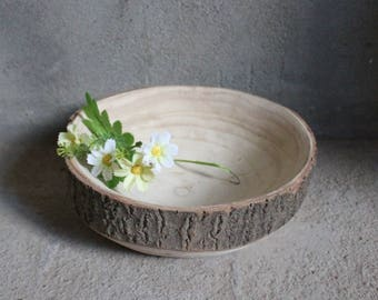 Wide Wooden Bowl, Wood Tray, Rustic Decor, Hand Carved Wood Bowl, Decorative Bowl, Wood Art, Fruit Bowl, Candy Dish, Rustic Wood Bowl