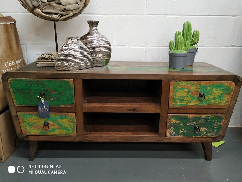 Reclaimed Boat Wood TV Entertainment Stand, Tv Unit, Tv Cabinet, Tv  Console, Tv Bench, Accent Cabinet, Sideboard, Storage Cabinet   Unique!
