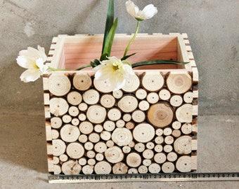 Handmade Rustic Eco Luxury Wooden Box, Wine Gift Basket, Bookshelf, Organizer, Side Table, Coffee Table, Toy Basket, Gift Idea