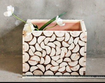 Rustic Wooden Plant Box, ecoluxury plant box, handmade plant box, unfinished Wood Plant Box,, Garden plant box, Gift Basket