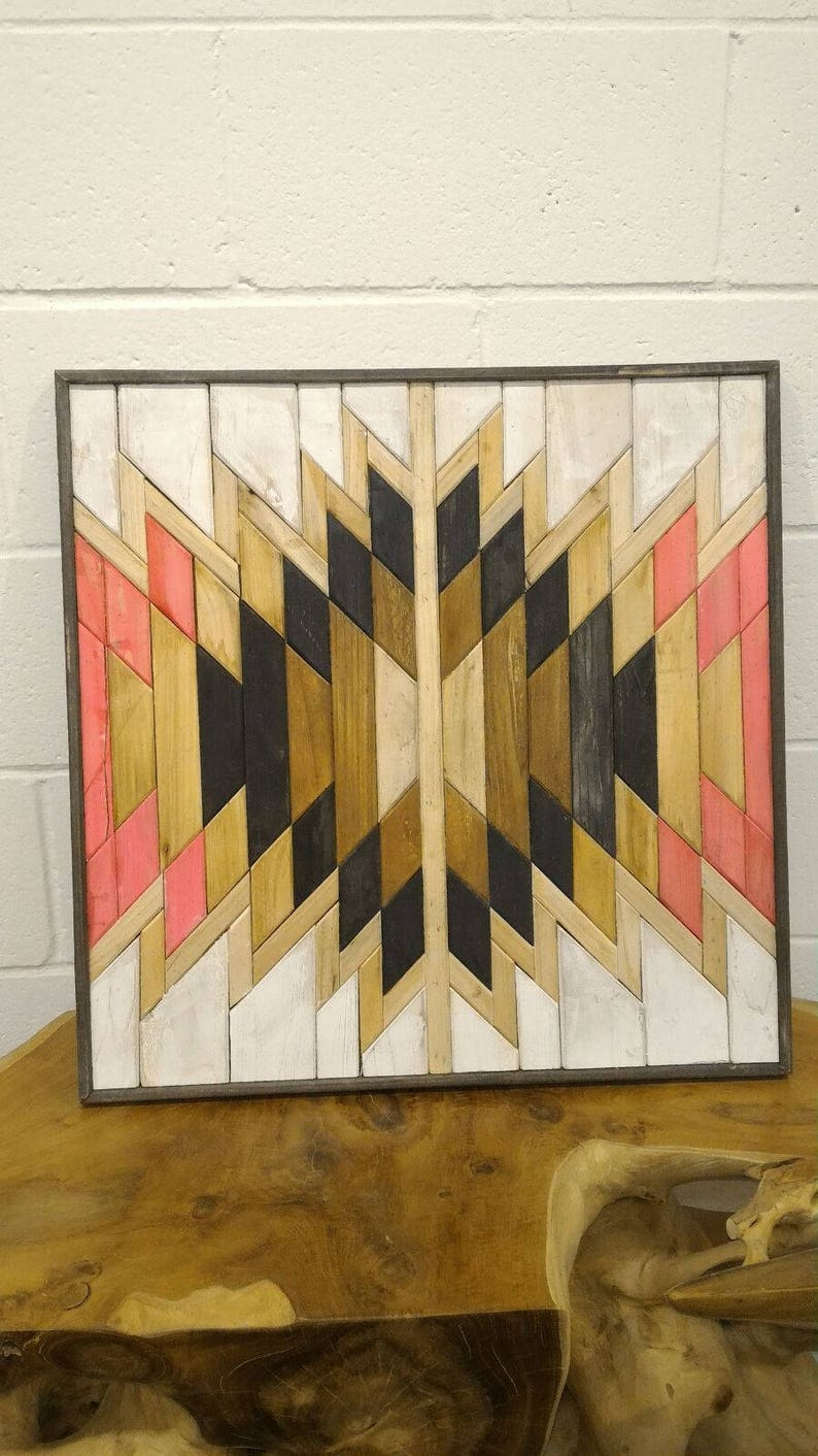 Wood Abstract Wall Art Wood Wall Art Decor Colorful Wooden Etsy