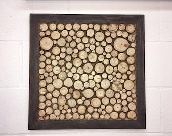 Handcrafted Wooden Wall Art, Handmade Wooden chip wall Art, Rustic wall decor, Rustic Wall Art, Brown Wood Wall Decor
