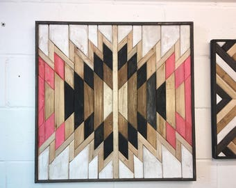 Handcrafted Wood Wall Art, Wooden Wall Art, Geometric Wood Art, Wooden Wall Art Hanging, Modern Wood Art, Boho Wood Art, Wood Wall Decor