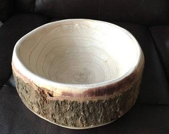 Rustic Wood Bowl, Handmade Wooden Bowl, Wood Serving Tray, Jewelry bowl, Organization, Fruit Bowl, Decorative Bowl,