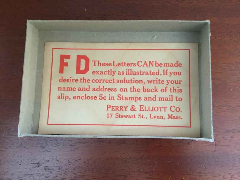 Vintage 1933 Franklin Delano Roosevelt Puzzle