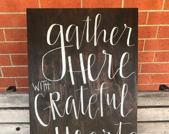 Custom Wooden Sign Calligraphy