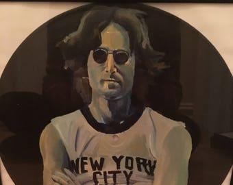 John Lennon Hand Painted Record