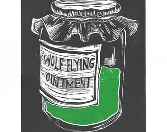 Wolf Flying Ointment Printed on Rice Paper
