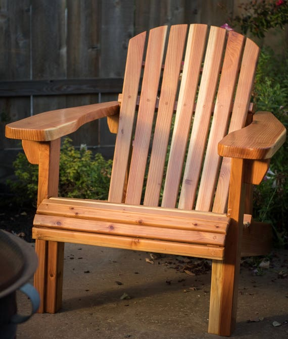 Delicieux Traditional California Redwood Adirondack Chair | Etsy