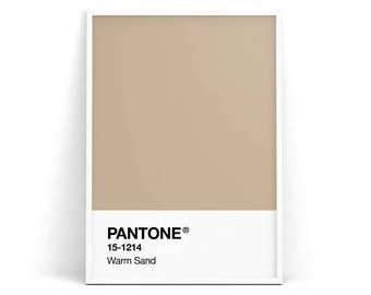 Pantone Spring 2018 Poster Warm Sand Nougat Beige Wall Print Affiche Nordic Minimalism Scandinavian Art