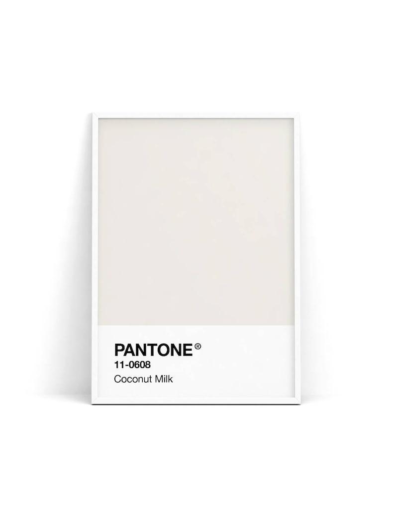 Pantone Spring 2018, Coconut Milk, Pantone Nougat Beige, Wall print,  Pantone poster, Pantone wall art, Nordic minimalism print, Scandinavian