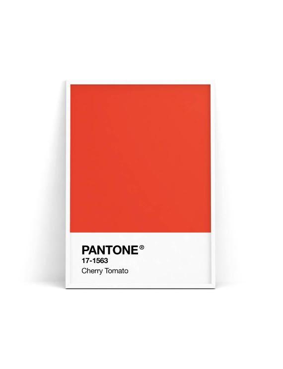Pantone Spring 2018, Cherry Tomato, Pantone Red, Pantone print, Pantone  poster, Pantone wall art, Pantone fashion poster, Pantone printable