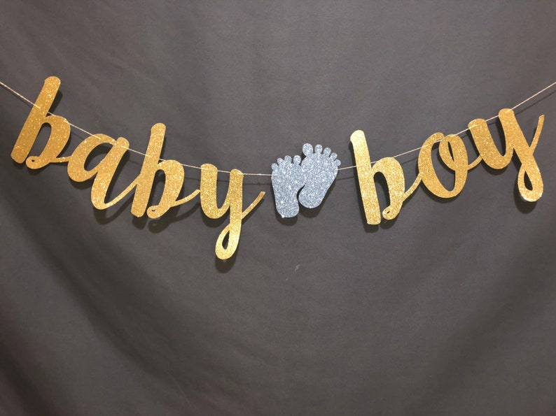 Baby Boy Baby Shower Baby Boy Banner Its a Boy Banner Custom Banner,