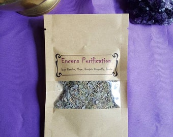 Frankincense cleansing / purification, white Sage, mix of plants, Wicca, natural magic, benzoin, natural incense, home purification