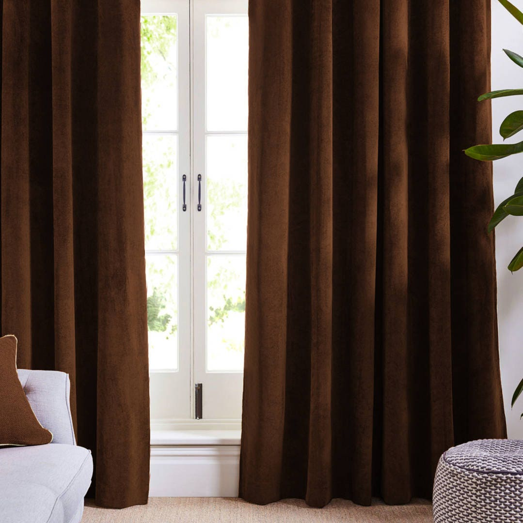 Dark Brown Curtains Bedroom Black And White Chevron Bedroom Ideas Bedroom Wall Colors Images Black And White Bedroom Decor: Dark Brown Curtains Coffee Drapes Velvet Custom Curtains