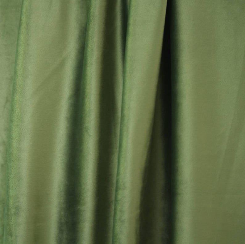 Olive Green Curtains Velvet Drapes Custom Drape Home Decor Velvet bedroom living room Curtains