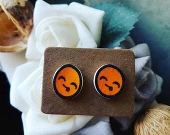 Smiley face earrings
