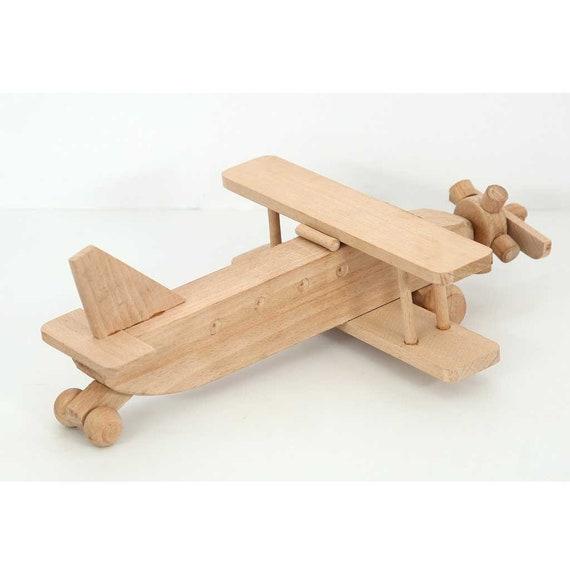 Aeroplano di legno personalizzato Disney carattere nome blocchi giocattolo regalo di Natale