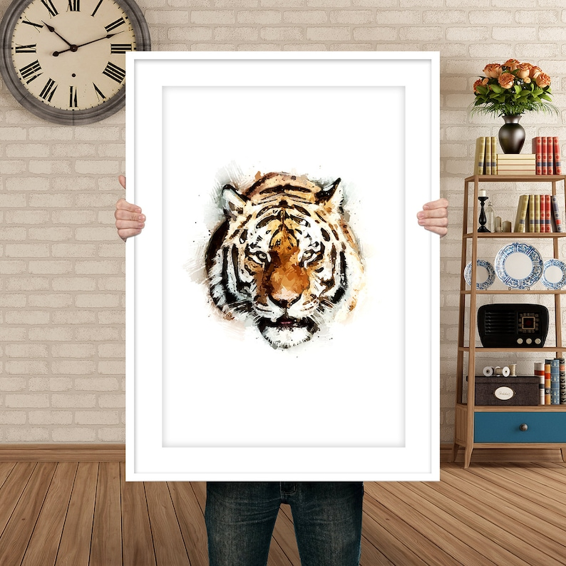 Animal Decor Tiger Wall Art Modern Art Painting Poster image 0