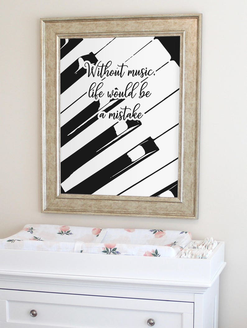 Quote about Music Gift for Musician Music wall art Gift for image 0