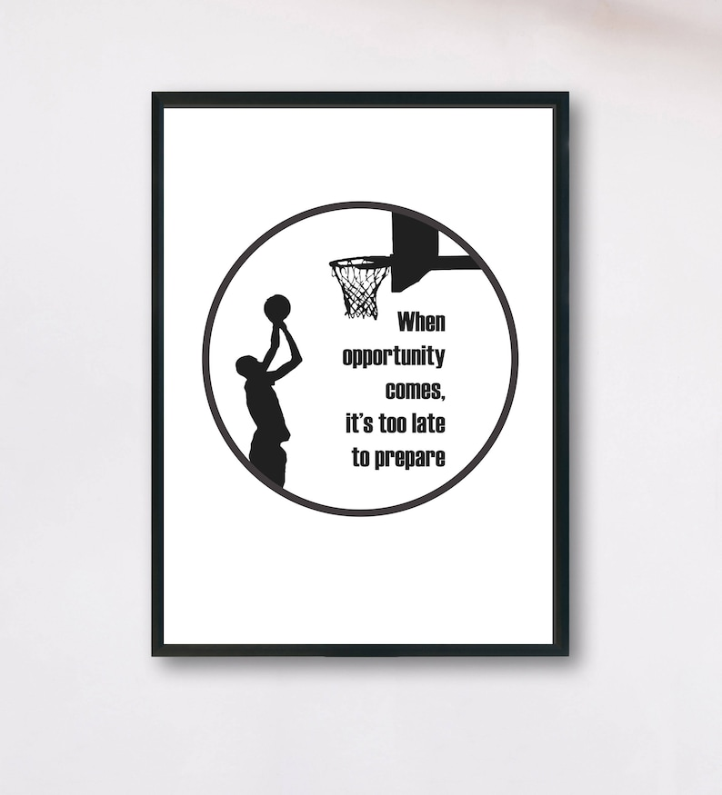 Sport Quote, Inspirational Quote, Sport Motivation, Sports Quotes,  Basketball Quote, Team Game Poster, Sporting Poster, Sport Wall Art Print