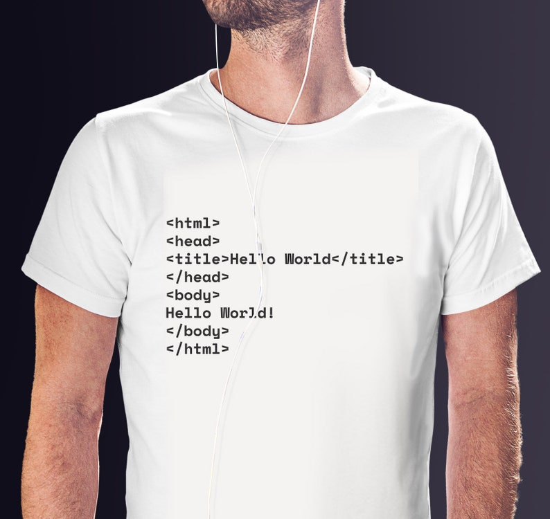 16ec2b96 Funny Coder Short-Sleeve Unisex T-Shirt Hello World Code   Etsy