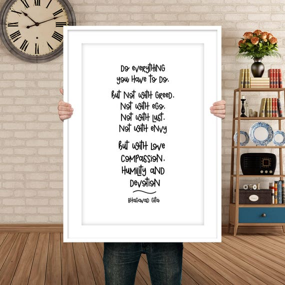 Bhagavad Gita Quote Love Quote Art Bhagavad Gita Etsy