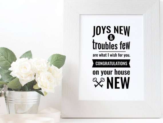 Good Luck In Your New Home Quote Congrats On New Home Best Etsy Adorable New Home Quotes
