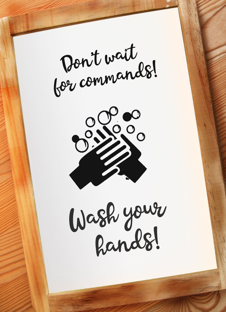 Wash Your Hands Personal Hygiene Practices Wall Sign image 0