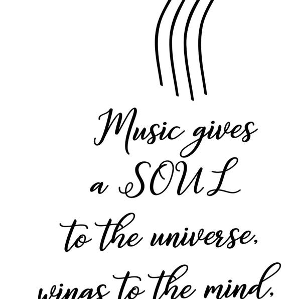 Quote About Music Plato Quote Printable Large Poster Music Etsy