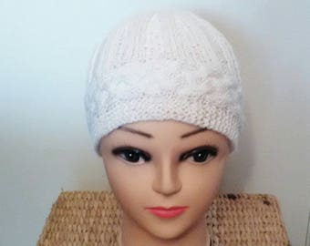 Hat with cables and ribs 3/3