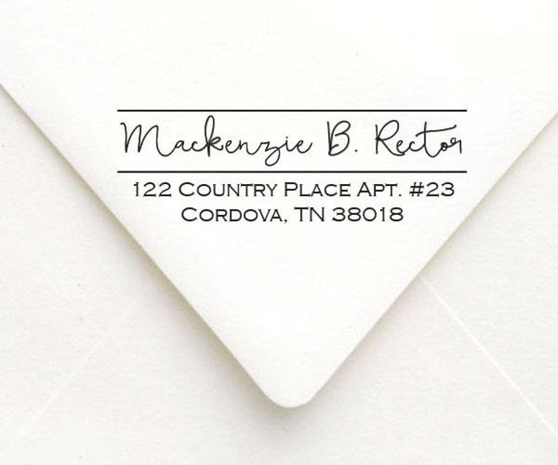 Self Inking Stamp Custom Calligraphy Return Address Stamp Personalized Handwriting Return Address Stamp with Proof