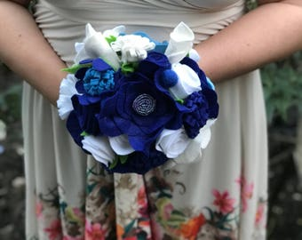 Felt Wedding Bouquet, Felt Bouquet, Keepsake Bouquet, Felt Flowers, Wedding Bouquet, Flower Bouquet, Alternative Bouquet, Boho Bouquet