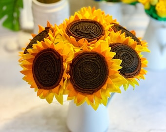 83457706638 Felt sunflower