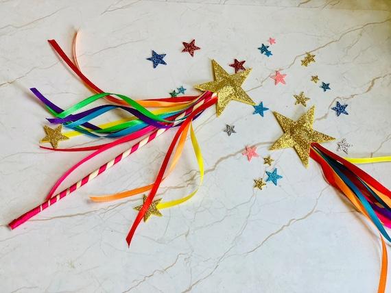 Rainbow Star Wand Toy Princess Gay /& Lesbian Pride Fairy Costume Accessory Prop