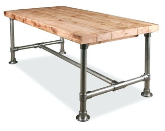 Scaffold Industrial Pipe Table Bar Loft Home Free P P Desk Frame Only! UK  Desk Table H70cm W70cm L110cm c2c16806bf