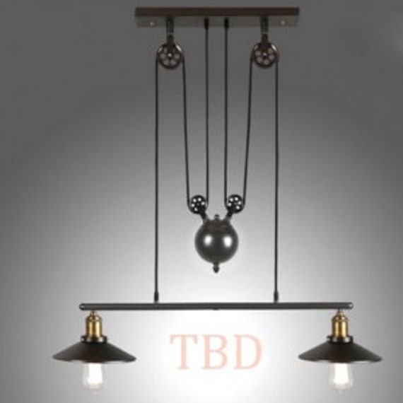 Vintage Industrial Pendant Light Diy Ceiling Lamp Light Adjustable Loft Home
