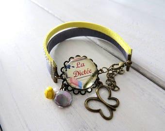 """Modern floral bracelet """"dictation"""""""