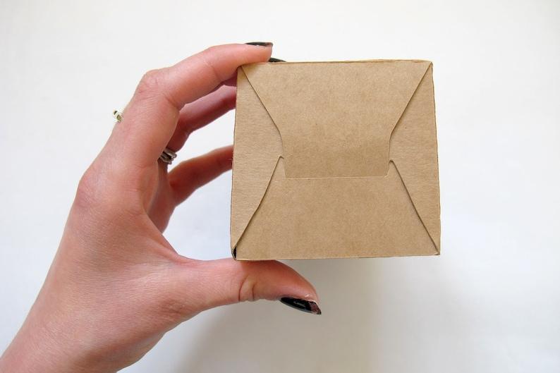 Customised Initialed Kraft Gift Box