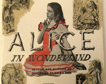 Vintage Alice in Wonderland Vinyl Audiobook, Stereo, Gatefold LP record , 1958 recording, Argo Label, Lewis Carroll gift