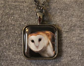 "Barn Owl ""A.J."" Pendant Necklace"