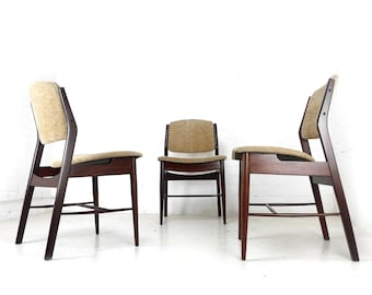 Mid Century Danish Style Dining Chairs   Set Of 4 In Rosewood    Vintage/Retro 1960u0027s