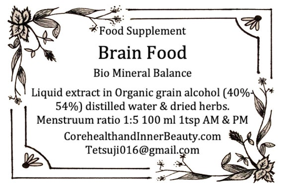 BRAIN tonic - Brain Food & Balance Central Nerve System (inspired by dr  sebi)