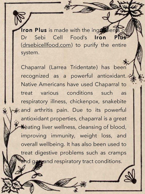 Iron tincture - Bio Mineral Balance (Dr Sebi Inspired)