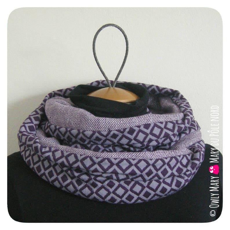 Snood Women's Adult Teen mesh purple purple diamond image 0