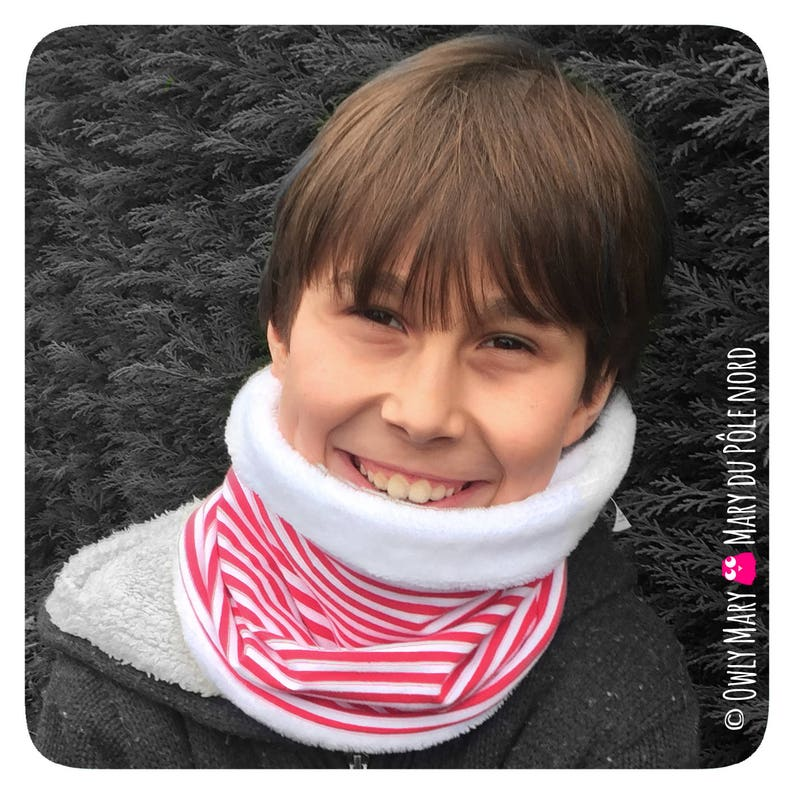 Sailor striped Snood for children joint boy girl stretchy image 0