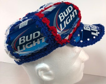 Beer hat beer can hat bud light  crochet beer can hat budweiser golf hat cd4200624a19