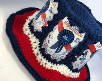 e71f678626e Pabst Beer can hat Pabst blue ribbon pabst beer can hat  PBR beer can hat   PBR