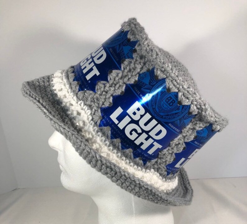 7c59f3be47e Beer hat beer can hat bud light hat crochet beer can